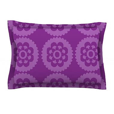 KESS InHouse Moroccan Purple by Nicole Ketchum Featherweight Pillow Sham; King