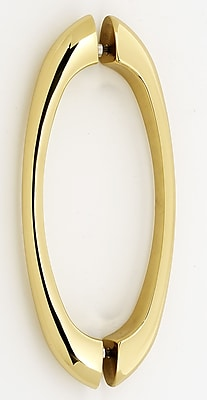 Alno 6'' Center Arch Pull; Polished Brass