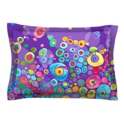 KESS InHouse Inner Circle Purple by Catherine Holcombe Featherweight Pillow Sham; Queen