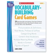Scholastic Vocabulary Building Card Games, Grade Five Book