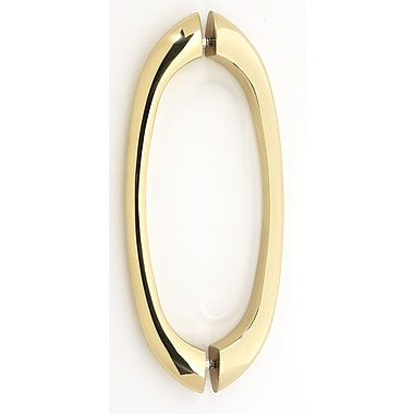 Alno 8'' Center Arch Pull; Polished Brass