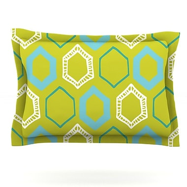 KESS InHouse Hexy Lime by Laurie Baars Featherweight Pillow Sham; Queen