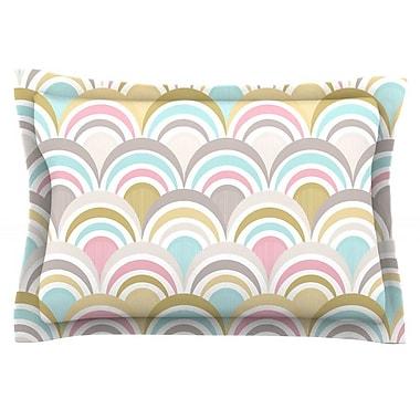 KESS InHouse Art Deco Delight by Nicole Ketchum Featherweight Pillow Sham; Queen