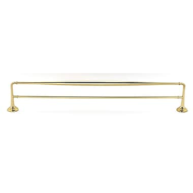 Alno Double 30'' Wall Mounted Towel Bar; Polished Brass