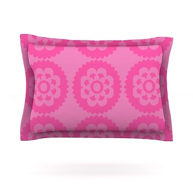 KESS InHouse Moroccan Pink by Nicole Ketchum Featherweight Pillow Sham; King