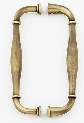 Alno 6'' Center Arch Pull; Antique English Matte