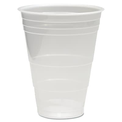 Boardwalk Translucent Plastic Cold Cups, 16 oz, Translucent, Plastic, 1000/Carton (BWK TRANSCUP16) BWKTRANSCUP16CT