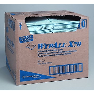 Kimberly-Clark Wypall X70 Foodservice Towels quarter fold in Blue