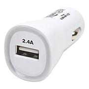 Tripp Lite USB Car Charger for Universal, White (U280-001-C2)