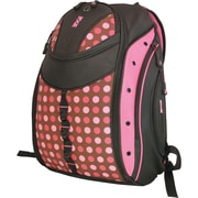 """Mobile Edge Black/Pink Dots Poly Women's Express Backpack For 16"""" Notebook"""