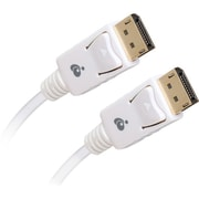 Iogear® 6' DisplayPort 1.2 M/M Gold-Plated A/V Cable, White