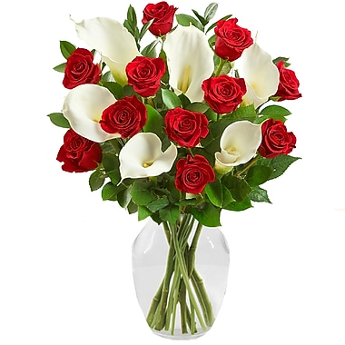 What A Bloom – Bouquet de roses rouges et lys Calla