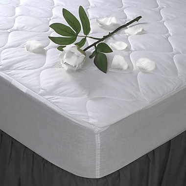 Maison Condelle Mattress Pad T180TC Percale, Full, White
