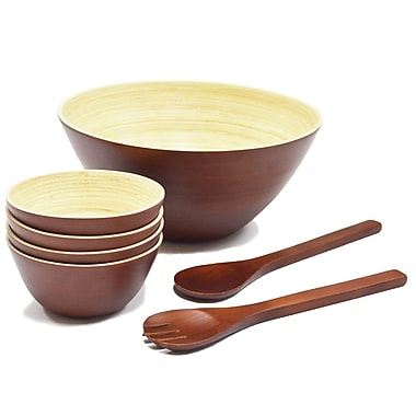 Adrien Lewis 7 Piece Bamboo Bowl Set