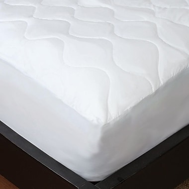 Studio 707 New Soft Cotton Feel Quilted Mattress Pad, Twin, White
