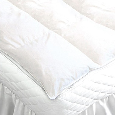 Maison Condelle Duck Feather Mattress Topper, Queen, White