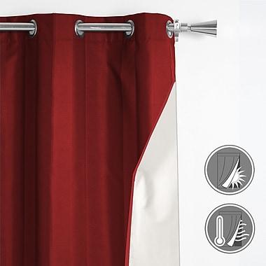 Maison Condelle – Rideau à œillet avec revers en mousse Ivana, 42 x96 po, rouge