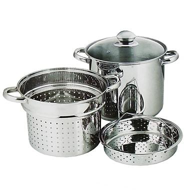 Maison Condelle – Ensemble pour cuisson de pâtes en acier inoxydable, 8 L- 9,5 po