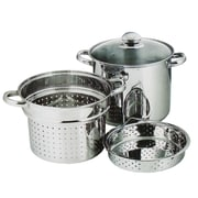 "Maison Condelle Pasta Cooker set, 8L- 9.5"" Stainless steel"