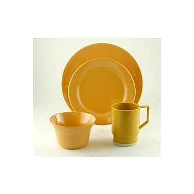 Galleyware Company Melamine 16 Piece Dinnerware Set, Service for 4; Mustard