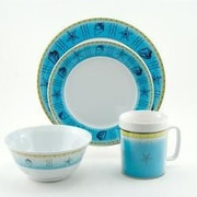 Galleyware  Company Decorated Offshore Melamine 16 Piece Dinnerware Set