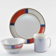 Galleyware  Company Decorated Life Preserver Melamine 12 Piece Dinnerware Set, Service for 4