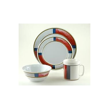 Galleyware Company Decorated Life Preserver Melamine 24 Piece Dinnerware Set, Service for 6