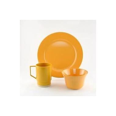 Galleyware Company Melamine 18 Piece Dinnerware Set, Service for 6; Mustard