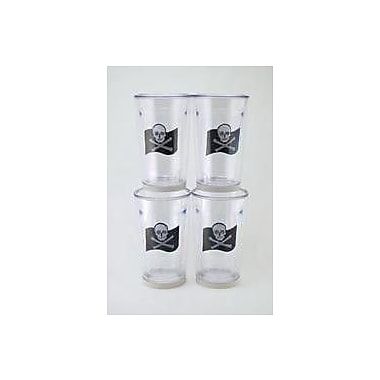 Galleyware Company Newport Jolly Roger Non-skid 16 oz. Tumbler (Set of 4)