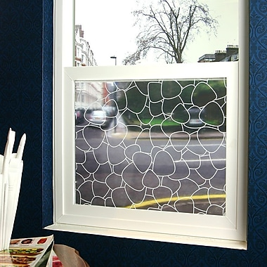 Odhams Press Pebbles Sheer Window Film; 36'' x 48''
