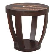 Jeffan Batavia Coco Motif Side Table in Espresso