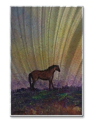 All My Walls 'High Plains' by Diana Lancaster Painting Print Plaque