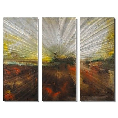 All My Walls 'Manifestation' by Michele Morata 3 Piece Painting Print Plaque Set