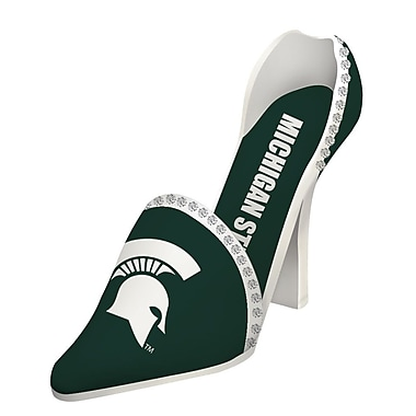 Team Sports America NCAA Shoe 1 Bottle Tabletop Wine Rack; Michigan State