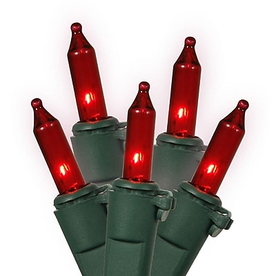 Vickerman 100 String Light Set; Red