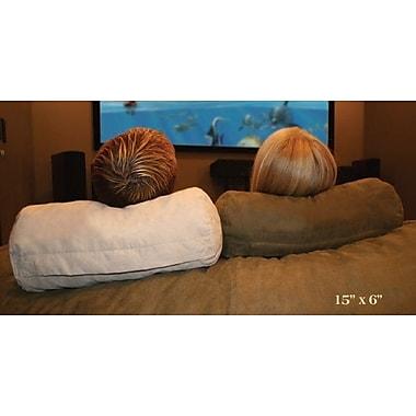 Relax Sacks Neck Body Pillow; Brown Microfiber