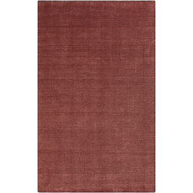 Tepper Jackson Tiffany Burgundy Solid Rug; 8' x 11'