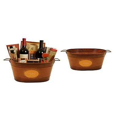 WaldImports Oval Metal Container (Set of 2)