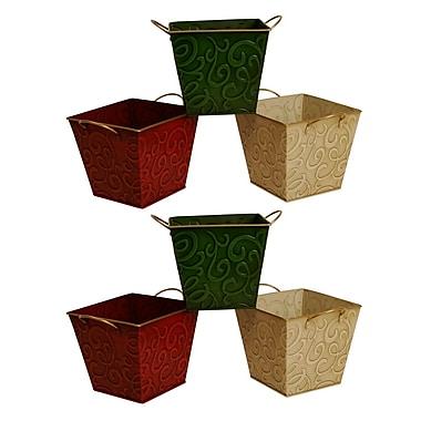 WaldImports 6 Piece Square Planter box Set (Set of 6)