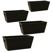WaldImports Black Paperboard Tote (Set of 4); Black