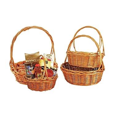 WaldImports 4 Piece Willow Basket Set in Dark Brown Wash; Medium Brown