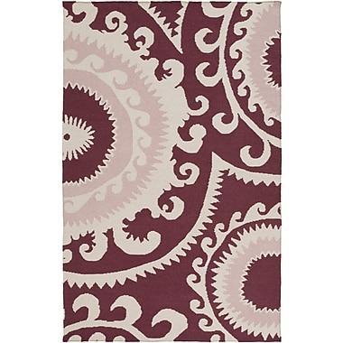 Jill Rosenwald Fallon Pastel Pink Ikat & Suzani Area Rug; Rectangle 3'6'' x 5'6''