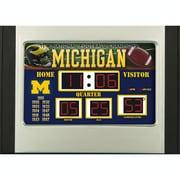 Team Sports America NCAA Scoreboard Desk Clock; Michigan