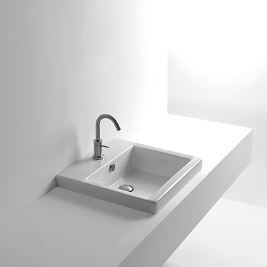 WS Bath Collections Whitestone Hox Recessed Self Rimming Bathroom Sink