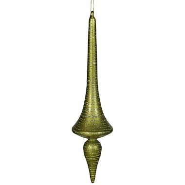 Vickerman Finial Drop Matte-Glitter Ornament; Dark Olive