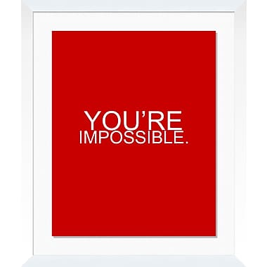 PTM Images You're Impossible Framed Textual Art