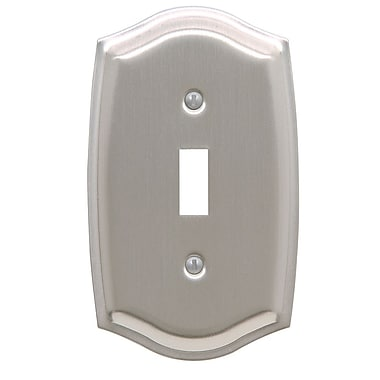 Baldwin Colonial Design Single Switch Wall Plate; Satin Nickel