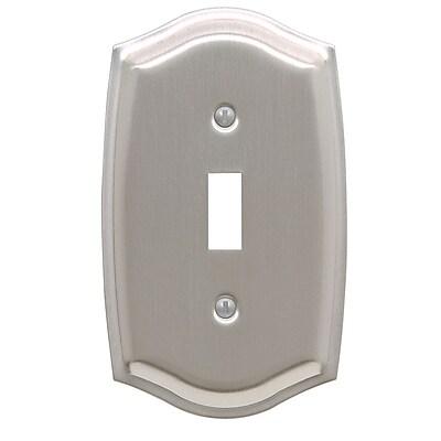 Baldwin Colonial Design Single Switch Wall Plate; Satin Nickel