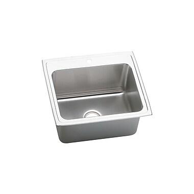 Elkay Gourmet 25'' x 22'' x 12.13'' Top Mount Kitchen Sink; 3 Holes