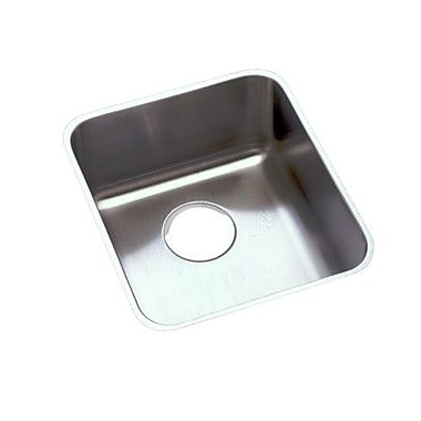 Elkay Lustertone 16'' x 19'' Undermount Kitchen Sink w/ Sink Grid and Drain Assembly